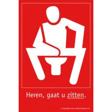 WC Bordje Heren, gaat u zitten