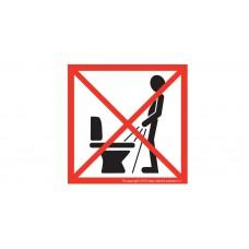 WC Bordje staand plassen verboden